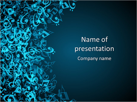 abstract music powerpoint template & backgrounds id 0000008083, Modern powerpoint