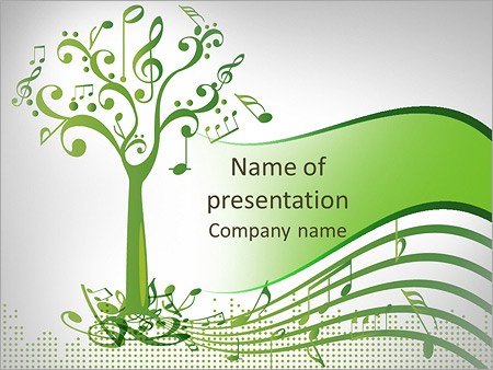 musical tree powerpoint template & backgrounds id 0000008084, Modern powerpoint
