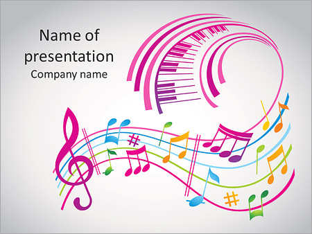 colorful music background powerpoint template backgrounds google