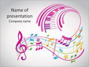 Barevné hudby na pozadí PowerPoint šablony
