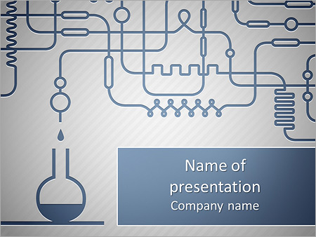 A Set Of Chemical Equipment Powerpoint Template Backgrounds
