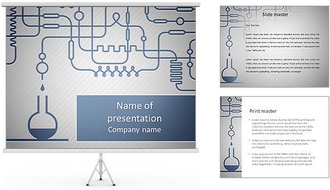 Un ensemble d'équipements chimiques Modèles des présentations  PowerPoint