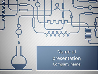 A set of chemical equipment PowerPoint Template