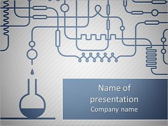 Un insieme di apparecchiature chimiche I pattern delle presentazioni del PowerPoint