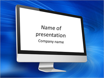 Computer display PowerPoint Template