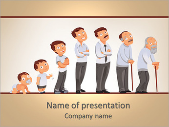 Generations men PowerPoint Template