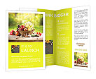 Fresh vegetables in basket Brochure Templates