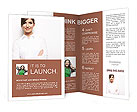Young female smiling Brochure Templates
