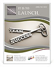 A keys with words team and success business concept Flyer Templates