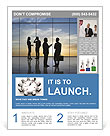 Team of successful business people Flyer Template