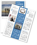 Team of successful business people Newsletter Template