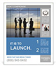 Team of successful business people Poster Templates