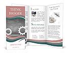 Vector illustration - gears Brochure Templates