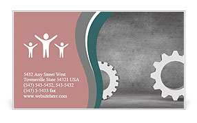 Vector illustration - gears Business Card Template
