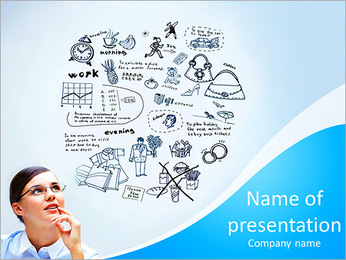 Compose dreams think PowerPoint Template