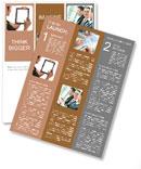 Modern business woman Newsletter Template