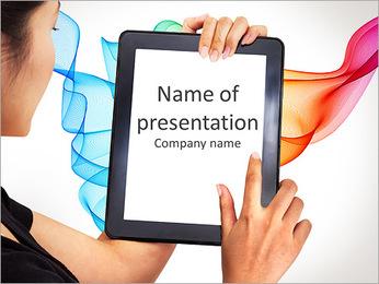 Modern business woman PowerPoint Template