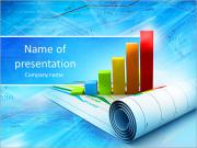 Growth concept business brochure background with diagram PowerPoint Templates