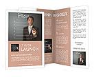 Business man writing business plan Brochure Templates