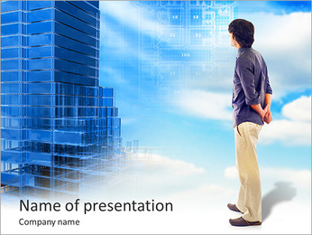 希望の未来の家 PowerPointプレゼンテーションのテンプレート