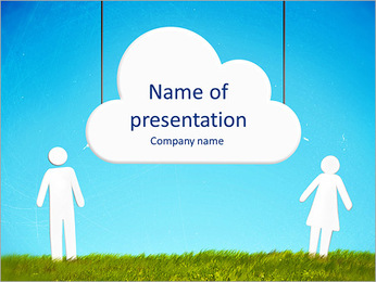 Communication symbol PowerPoint Template