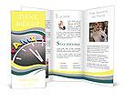 Family time concept clock Brochure Templates