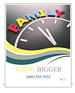 Family time concept clock Poster Template