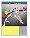 Family time concept clock Word Templates