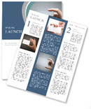 Hand holds the title of the presentation Newsletter Templates