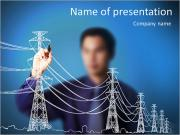 Power line PowerPoint Templates