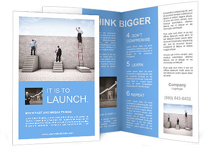 career brochure template - career ladder brochure template design id 0000008150