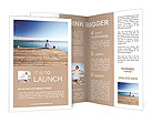 Sitting on a beach and looking at the sea Brochure Templates