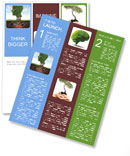 Healthy heart and mind with a tree in the shape of a human head Newsletter Template