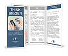 Shopping with smart phone and credit card Brochure Templates