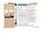 Cheering business people thumbs up Brochure Templates