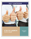 Cheering business people thumbs up Word Templates