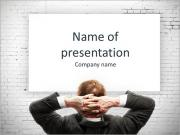 Confident businessman presenting board PowerPoint Templates