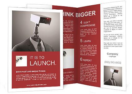 a robotic security camera brochure template design id 0000008166