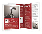 A robotic security camera Brochure Templates