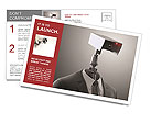 A robotic security camera Postcard Template