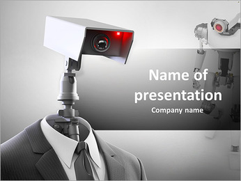 A robotic security camera PowerPoint Template