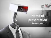 ロボット防犯カメラ PowerPointプレゼンテーションのテンプレート