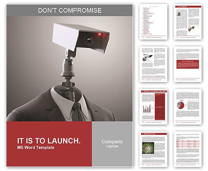 A Robotic Security Camera Word Template Design Id 0000008166