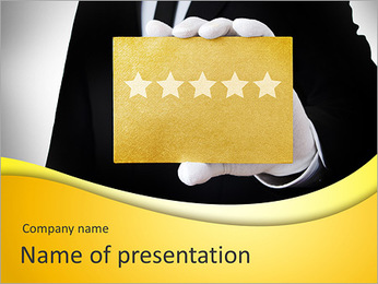 Five stars service PowerPoint Template