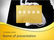 Five stars service PowerPoint Templates