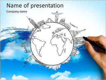 Monuments on earth PowerPoint Template