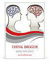 Man and woman faces profiles with brains Ad Templates