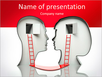 Understanding of the silhouette of a head PowerPoint Template