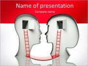 Understanding of the silhouette of a head PowerPoint Templates