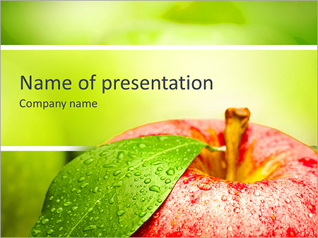 Ripe green apple powerpoint template backgrounds google slides ripe green apple powerpoint template slide 1 maxwellsz